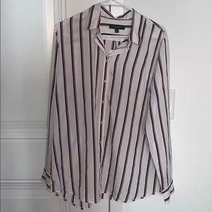 BANANA REPUBLIC — striped button down